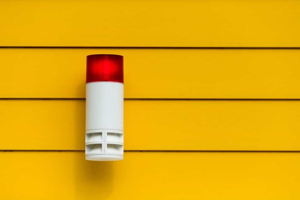 Alarme de sécurité avertir en cas de problème et danger