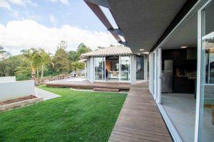 Villa terrasse, jardin, avec véranda
